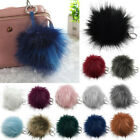 Charm Key Ring Fluffy Puff Fur Ball PomPom Phone Car Keychain Pendant Handbag BW
