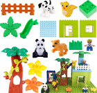 Compatible With NEW Lego DUPLO Animals Dog Panda Lion Happy Family Forest House