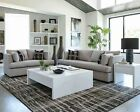 Modern Casual Sofa Sectional Grey Velvet Full Foam Seating W Pillows Made In Usa