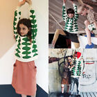 Внешний вид - New Toddler Kids Baby Girl Boy Green Wave Tops Blouse Sweater Sweatshirt Clothes