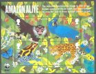 Great Britain-Amazon Alive min sheet-Rainforest mnh-Wild Animals-Birds