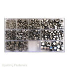Assorted M3 M4 M5 M6 M8 A2 Stainless Steel Hexagon Full And Nyloc Locking Nuts