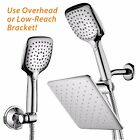 HotelSpa® 10.5-In Rain Shower Head and Handheld Combo Convenient Push-Button
