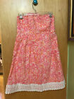 LILLY PULITZER STRAPLESS DRESS BICYCLES FRUIT MULTI COLOR LACE 4 WOMENS