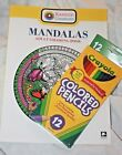 KARMIN CREATIONS MANDALAS ADULT COLORING BOOKS 32 PAGES 12 colored pencils