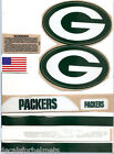 "GREEN BAY (2015) XL  PACKERS F/S-XL CURRENT HELMET DECALS /EXTRAS( 5"" x 3"" ) Rx"
