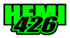 """Dodge Challenger Charger Scat Pack SRT  HEMI 426 Decal 2"""" x 4"""" (two color)"""