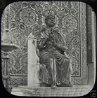 Glass Magic Lantern Slide ST PETERS STATUE IN THE VATICAN ROME C1890 ITALY ROMA