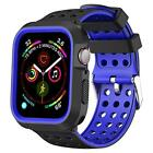 For Apple Watch Case 40mm Series 4 Full Body Cover Shock Proof Strap Bands Blue