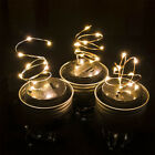 Charm Color Changing LED Fairy Light Solar Mason Jar Lid Lights Garden Decor DIY