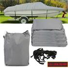 600D Oxford Cloth Waterproof Boat Cover Non-Abrasive Lining Snow Rain Protection
