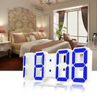 Large 3D Display LED Digit Numbers Desk Wall Clock Dimmer Alarm Snooze 12h/24h