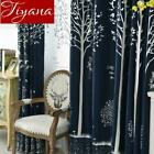 1 Pc Windows Bedroom Blackout Tree Tulle Curtains Sheer Fabrics For Modern Livin