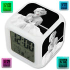 Marilyn Monroe Imperfect Is Beauty LED Digital Alarm Clock 7 Color Changing
