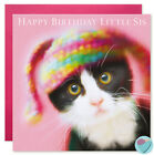 Girls Birthday Card Niece cat Kitten Knitted Bunny Ears Easter Any Occasion