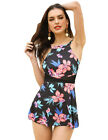 New Women Tankini Swimdress Swimsuit Beachwear Swimwear Bathing Bikini Plus Size