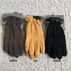 NWT Timberland Men's Essential Waterproof Fleece Linings Gloves Goat Suede NEW