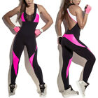 Womens Yoga Sports Fitness Jumpsuit Playsuit Leggings Pants Bodysuit Romper G14