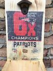 New England Patrriots Super Bowl Champions 6x Rustic Bottle Opener 1/1 Tom Brady