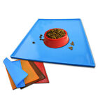 1Pc Cat Bowl Mat Dog Pets Feeding Water Food Dish Tray Wipe Clean Floor Placemat