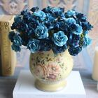 Внешний вид - 15-Head Artificial Rose Bouquet Silk Fake Flowers Wedding Party Home Decoration