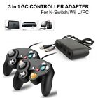2x Black Wired GC Controller+Adapter for Nintendo Switch Wii U Super Smash Bros
