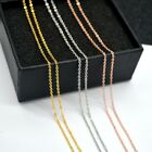 1.5mm 3 Colors 18K Yellow Gold&Rose Gold&White Gold Plated Rolo Link Chain 18'' image