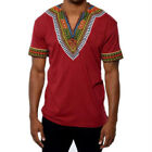 African Tribal Shirt Men Dashiki Print Succinct Hippie Top Blouse Clothing US <br/> ❤ 2018 NEW STYLE ❤ Best Quality ❤ US STOCK ❤Easy Return