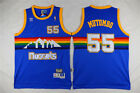 New Men's Denver Nuggets Basketball Jersey NO.55 Dikembe Mutombo Shirt BLUE on eBay
