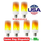 LED Flame Light Bulb Simulated Burn Fire Effect Party Decor Flicker Lamp E27 Lot