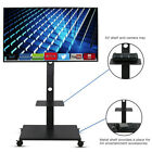 "TV Cart Stand Plasma LCD LED Flat Screen Panel w/ Wheels Mobile Fits 32"" to 75"""