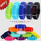 New Mens Womens Digital LED Silicone Sports Watch Wrist Band Waterproof Bracelet image