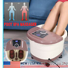 Portable Foot Spa Bath Massager Bubble Massage Heat Soaker Soak Tub Pedicure Set
