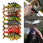 Multicolor Plastic Multi Jointed Hard Fishing Lure Lifelike 3D Fish Bait 8cm