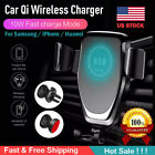 10W QI Wireless Fast Charger Car Mount Holder Stand For iPhone XS Samsung S9 S10