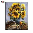 Sunflower Oli Painting Coloring by Numbers On Canvas DIY Hand Painted Home Decor