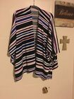 Womens One Size Fits Most Cape Milti Color Stripes Really Pretty