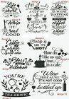 Kitchen Quotes Decals Funny Stickers Wall Tiles Door Utility Room 12 Designs Kq5