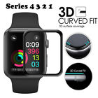 For A pple Watch Series 4 3 2 1 3D Full Edge 9H Tempered Glass Screen Protector