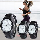 Men Sports Watch Classical Classic Numerals Dial Silicone Strap Wrist Watches GI