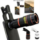 HD 12x Optical Zoom Clip on Camera Lens Phone Telescope For Universal Phone SE