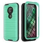 For Moto G6 Play Case With Screen Protect Full Body Rugged Armor Shockproof