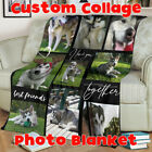 Custom Pet Photo Printed Blanket Your Pictures Dogs Cats Pets Throw Rug Bedding image