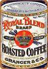 Metal Sign - Royal Blend Coffee - Vintage Look Reproduction