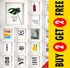 Motivational Prints, Inspirational Posters Funny Quotes Modern Wall Art A3/A4