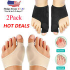 2Types Big Toe Bunion Splint Straightener Corrector Hallux Valgu Relief Pain USA