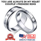 """Couple's Matching """"you are always in my heart"""" His or Hers Promise Ring"""