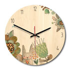 Solid Wooden Wall Mounted Clock Non-ticking Silent Wooden Clock for Home Decor