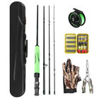 Lightweight Portable Fly Fishing Rod and Reel Combo Pole Fly Fishing Gloves P3Z8