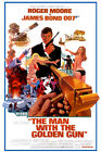 The Man With the Golden Gun James Bond Poster Reprint/ Decor/Wall Decor/Wall Art $27.95 AUD on eBay